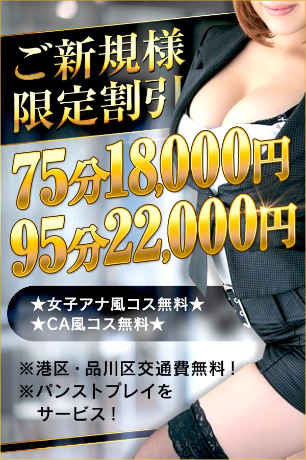ご新規様限定!! / 新橋のデリヘル風俗【イキます!女子ANAウンサー】